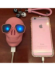 Portable Pink Skull Shape Charge Pal Design(8800MAH) Resin Household goods
