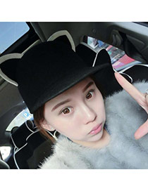 Cute Black Ears Shape Simple Design  Woolen Beanies Others