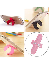 Creative White Bowknot Pattern U-shape Simple Design Alloy Phone holder