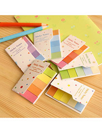 Lovely Random Color Rainbow Simple Design Paper Stickers Tape