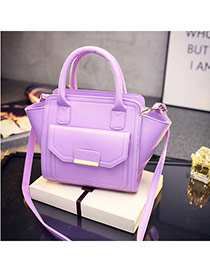 Sweet Purple Candy Color Bat Shape Design  Pu Handbags