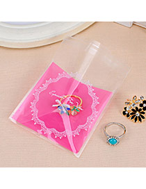 Sweet Plum Red Lace & Bowknot Pattern Simple Design Polypropylene Jewelry Tools