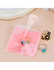 Sweet Pink Lace Pattern Simple Design Polypropylene Jewelry Tools