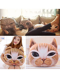 Personality Light Brown Cat Pattern Simple Design  Cotton Household goods
