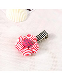 Fashion Red&plum Red Dot Pattern Decorated Flower Design Fabric Hair clip hair claw