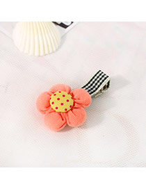 Fashion Orange&yellow Dot Pattern Decorated Flower Design Fabric Hair clip hair claw