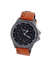 Bardian Brown Double Dial Decorated Simple Design  Alloy Men's Watches