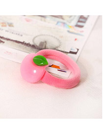 Sweet Pink Apple Decorated Simple Design  Acrylic Hair band hair hoop