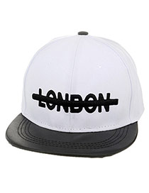 Fashion White Letter London Embroideried Decorated Simple Design  Canvas Baseball Caps