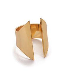 Personality Gold Color Geometrical Shape Open Design Alloy