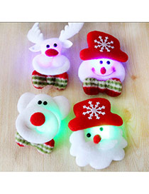 Lovely Random Color Santa Claus Pattern Lighting Design
