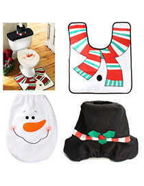 Personalized Multicolor Snowman Pattern Decorated Simple Design