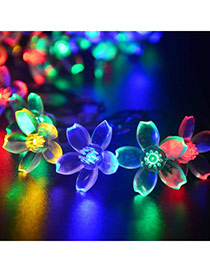 Personality colorful LED flower shape decorated solar panel design Acrylic Festival Party Supplies