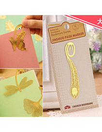 Personality Gold Color Hollow Out Feather Shape Simple Design  Alloy Other Creative Stationery