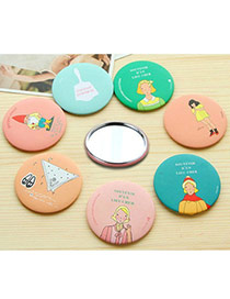 Personality By Random Cartoon Pattern Decorated Simple Design  Alloy Beauty tools