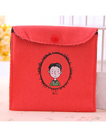 Personality Red Short Hair Man Pattern Decorated Simple Design
