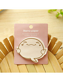 Personality Pink Cartoon Pattern Decorated Simple Design  Paper Scratch Pad Sticky