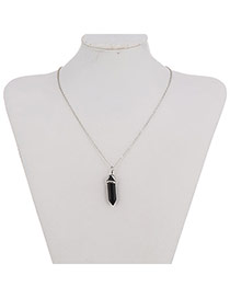 Fashion Black Bullet Pendant Decorated Simple Design Alloy Chains