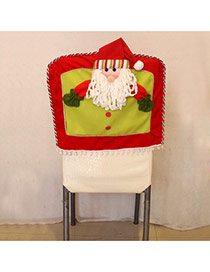 Personality Red Santa Claus Decorated Three-dimensional Chair Cover