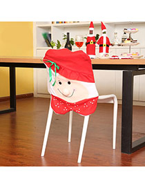Personality Red Cartoon Simling Face Shape Decorated Three-dimensional Chair Cover