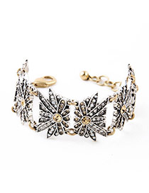 Exquisite Silver Color Diamond Decorated Insect Shape Design Alloy