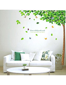 Creative Green Tree Pattern Removable Waterproof Design Wall Sticker  Pvc Household goods