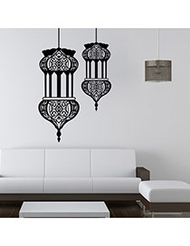 Creative Black Building Pattern Removable Waterproof Design Wall Sticker
