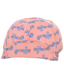 Cute Pink+blue Aircraft Pattern Decorated Pure Color Design