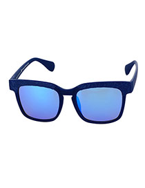 Fashion Blue Border Decorated Square Lens Design
