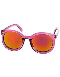Fashion Plum Red Metal Arrows Decorated Simple Design  Alloy Women Sunglasses