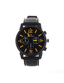 Fashion Yellow Pure Color Decorated Noctilucence Waterproof Design