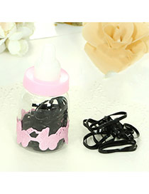 Cute Black Pure Color Decorated With Feeding-bottle Design (40pcs)