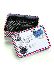 Cute Black Pure Color Decorated With Envelope Pattern Box Design