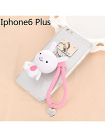 Sweet Pink Cartoon Rabbit Decorated Dots Descendants Of The Sun Resin Iphone 6 Plus