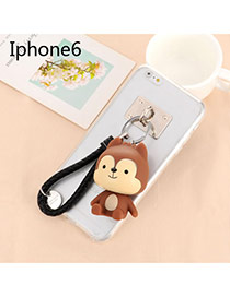 Sweet Coffee Cartoon Wolf Decorated Dots Descendants Of The Sun Resin Iphone 6