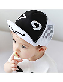 Lovely Black Eye Pattern Decorated Hollow Out Design