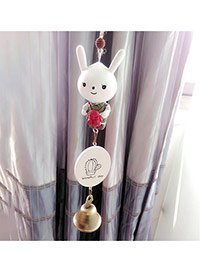 Fashion White Rabbit Decorated Wind Chimes Dots Descendants Of The Sun Resin Household goods