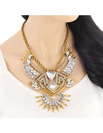 Vintage Gold Color Hollow Out Wing Shape Decorated Simple Design