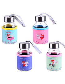 Trendy Random Color Wolf&rabbit Pattern Decorated Mini Design Dots Descendants Of The Sun(145ml) Glass Household goods