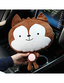 Trendy Coffee Wolf Shape Car Headrest Dots Descendants Of The Sun Fabric Household goods