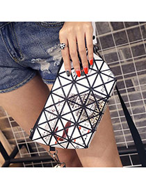 Elegant White Tower&sika Deer Pattern Decorated Geometric Shape Design Pvc Messenger bags
