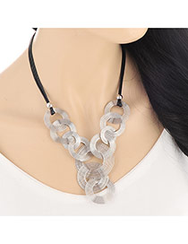 Fashion Silver Color Spiral Shape Decorated Short Chain Design