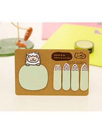 Lovely Green Cartoon Pattern Simple Design Paper Stickers Tape
