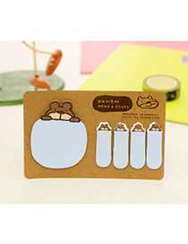 Lovely Blue Cartoon Pattern Simple Design Paper Stickers Tape Paper Scratch Pad Sticky