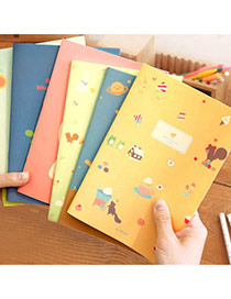 Lovely Random Color Cartoon Girl&cat Pattern Simple Design Paper Stickers Tape Paper Notebook Agenda