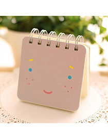Lovely Purple Expression Pattern Simple Design Paper Stickers Tape Paper Notebook Agenda