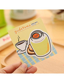 Lovely Yellow Cartoon Egg Pattern Simple Design Paper Stickers Notebook Paper Scratch Pad Sticky