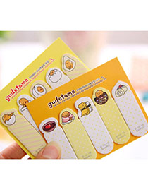 Lovely Random Color Cartoon Egg Pattern Simple Design Paper Stickers Tape Paper Scratch Pad Sticky