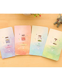 Lovely Random Color Bottle Pattern Simple Design Paper Stickers Notebook Paper Notebook Agenda
