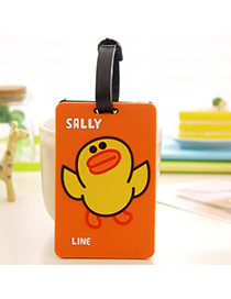 Fashion Orange Cartoon Duck Pattern Decorated Simple Design Silicone Household goods